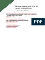 Temas Que Van Ingresar en El Examen Parcial de TOPICO I