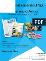 Afiche Conferencia La Paz 2014