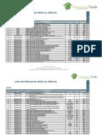 Listado de Precios de Equipos Ingeniería Verde