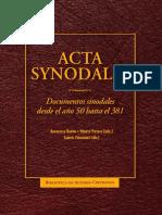 Acta Synodalia. Documentos Sinodales Des