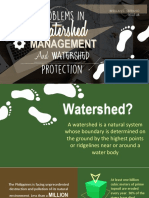 Problems in Watershed Management and Watershed Protection