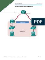 3.4.2.6 Lab - Configuring a Point-To-Point GRE VPN Tunnel (Fernando Patiño, Jose Correa)