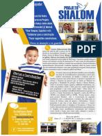 Folder Shalom - Centro Educacional e Bazar - Pai Pedro - 2018