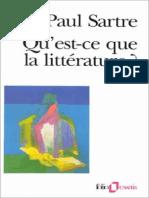 Jean-Paul Sartre - Qu'Est-ce Que La Littérature _ (1973, Gallimard)