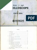 Hitachi v-302f 2x1mv 30mhz Oscilloscope Sm
