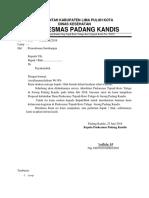 Surat Permohonan Sumbnagan