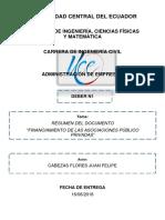 FINANCIAMIENTO DE LAS ALIANZAS PUBLICAS PRIVADAS