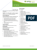 Rich Web Applications With Spring Datasheet