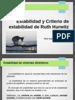 7.- Estabilidad y Criterio de Ruth