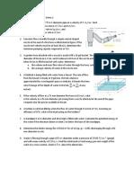 Hydraulics - Series 1 (Fundamentals of Fluid Flow) - Sample Problems.pdf