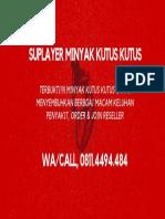 Call/WA,0811-4494-484, Suplayer  Minyak Kutus Kutus
