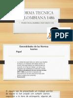 Norma Tecnica Colombiana 1486