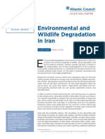 Environmental and Wildlife Degradation in Iran
