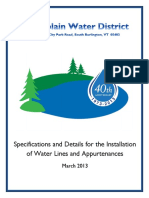 Champlain Water District Specifications March 2013