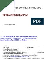 Operaciones Activas y Pasivas Bancarios