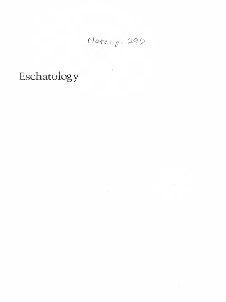 Eschatology Death And Eternal Life Joseph Ratzinger Pdf