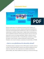 Presenta Conceptos Básicos de Las Plataformas de Educación Virtual. Activida 1.2 Profesora Chinchilla 2018