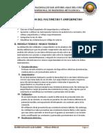 Utilizacion Del Voltimetro y Amperimetro Informe