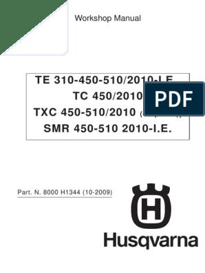 Husqvarna 2010 Wsm Te Tc Txc Smr 310 450 510   Transmission