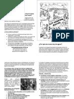 Folleto Básico Con Dibujo Defensa Territorio 2018 Cuestionando Conagua Tamaño Carta