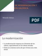 El Proceso de Modernización y La Estimación Valórica