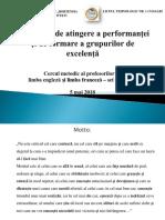 Modalităţi de Atingere a Performanţei Şi Formare a Grupurilor de Excelenţă[1273]