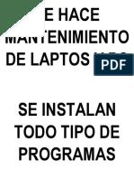 Se Hace Mantenimiento de Laptos y Pc
