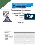 FÁRMACOS EN ODONTOLOGÍA