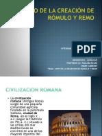 13 Mito de la creación de Rómulo y Remo