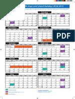 HDSB on Line Calendar 2018-2019