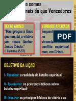 LIÇÃO 13 Pr. ELISEU MARTINS    SOMOS MAIS DO QUE VENCEDORES