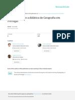 Um Olhar Sobre a Didatica de Geografia Em Portugal