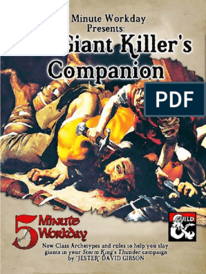 5 Minute Workday - The Giant Killer's Companion   Dungeons