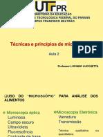 Aula 2 LL - Técnicas e Princípios de Microscopia