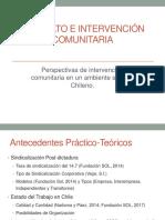 Psicología comunitaria y el sindicalismo en chile