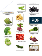 Las Verduras en Ingles