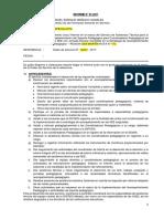 Informe de Actividades y Carta de Entrega