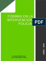 Formas en La Intervención Policial Resolución 17 2018 CDTT