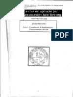 Cour Electrostatique & Electrocinetique