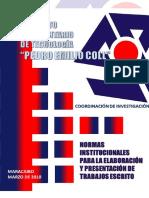Normas Institucionales Para La Elaboración y Presentación de Trabajos Escritos