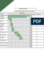 Ejemplo Cronograma de Actividades de una investigación