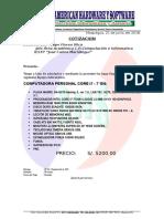 Cotizacion Core i7 Pc
