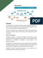 Definición de Emergencia y Urgencia