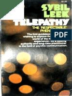 Telepathy. the Respectable Phenomenon by Sybil Leek
