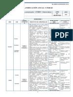 Lenguaje Planificacion - 1 Basico