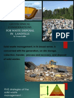 Geotechnicalconsiderations for Waste Disposal in Landfills(1)