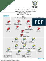 Ficha Serbia-Brasil