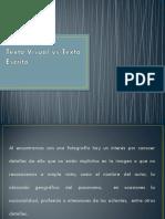 Texto Visual vs Texto Escrito