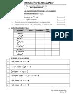 Problemas de Aplicación de Operaciones Con Polinomios.