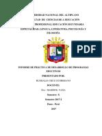 Informe Final x Semestre